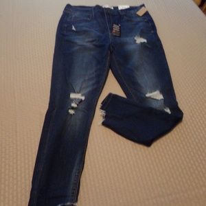 NEW! SIZE 15 ~ MUDD  Destructed High Rise Jegging